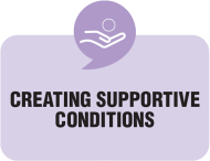 creating supportive conditions